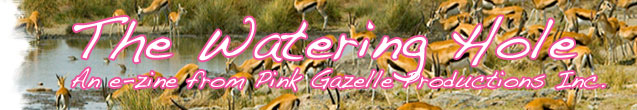 The Watering Hole e-zine banner graphic