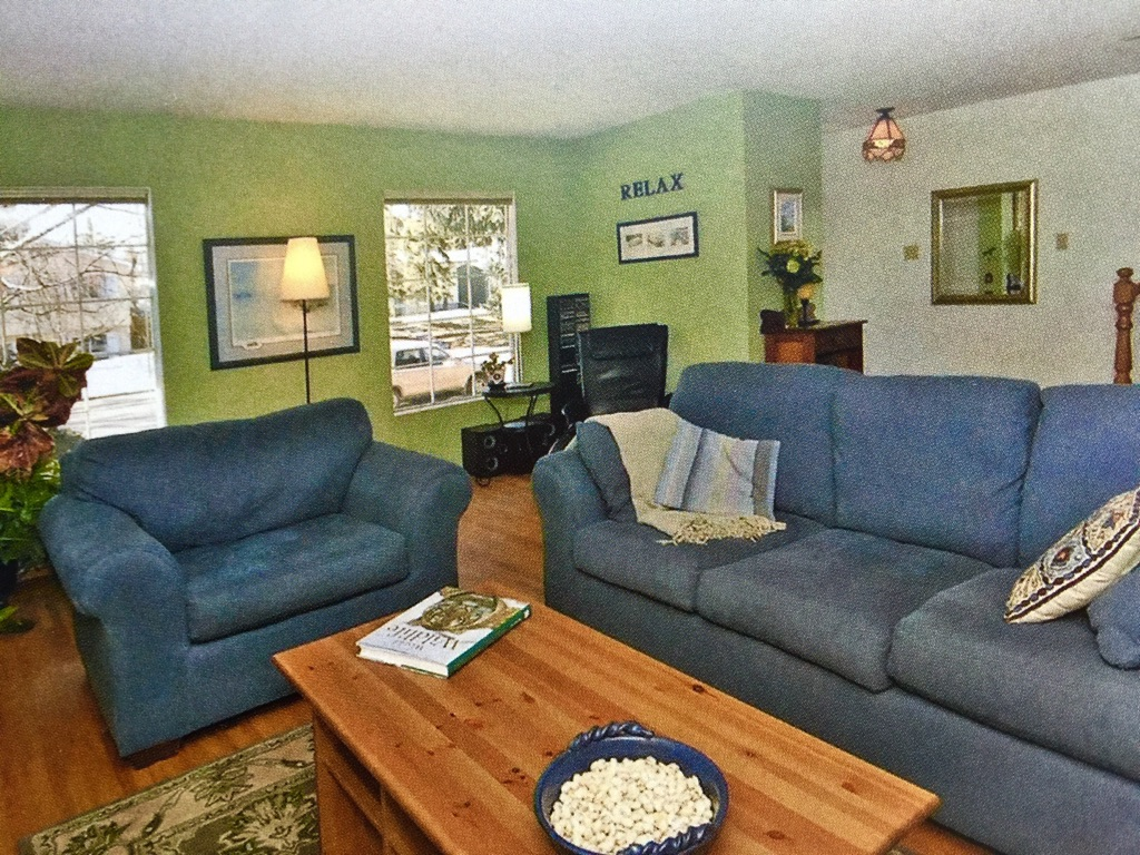 living room in calgary home