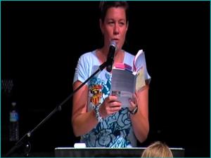 MA speaking holding AWA