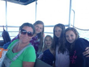 gang on ferry to sidney spit