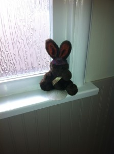 Chocolate bunny stuffy
