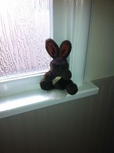 Chocolate bunny stuffy