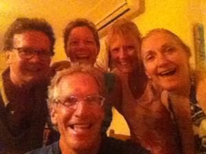 Group selfie after much wine