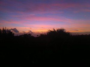 Sunrise from Pineapple Fields condo