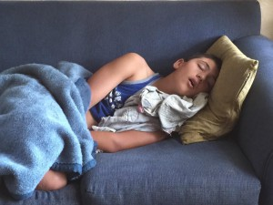 Zach sleeping
