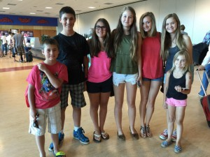 group at airport