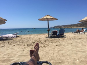 Beach on Naxos