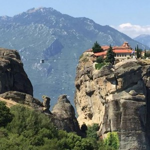 Cablecar to monastery at Meteora