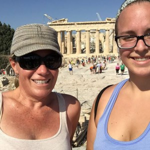 MA & Emily with Parthenon in background