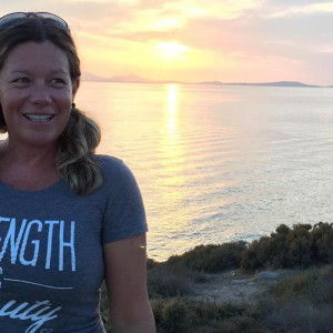 MA and sunset on Naxos