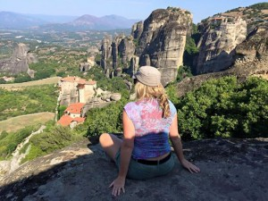 MA overlooking monasteries in Meteora