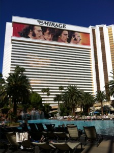 love sign on Mirage hotel