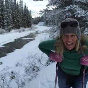 MA on the x-country ski trail