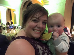 Mellie and baby Liam