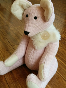pink toddler bear new