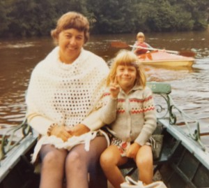 photo of MA & Mom in paddleboat