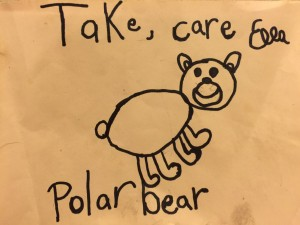 take care polar bear picture by Ella