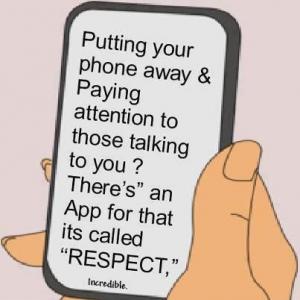 cell phone etiquette respect