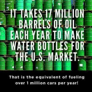 how much oil it takes to make plastic water bottles