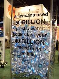 water bottles that ended up landfills