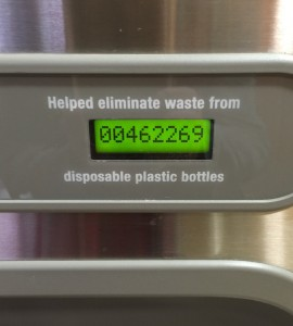 number of water bottles not used counter