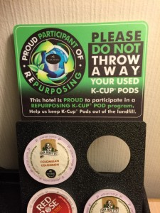 recycling Keurig pod sign