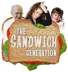 woman in sandwich