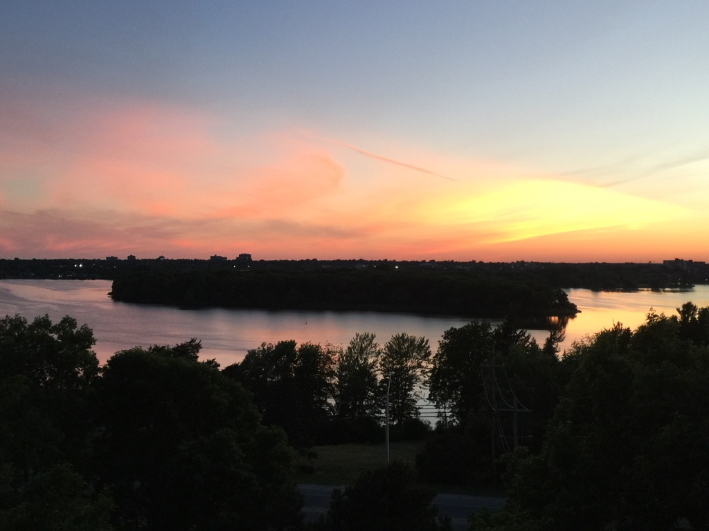 sunset in Kingston