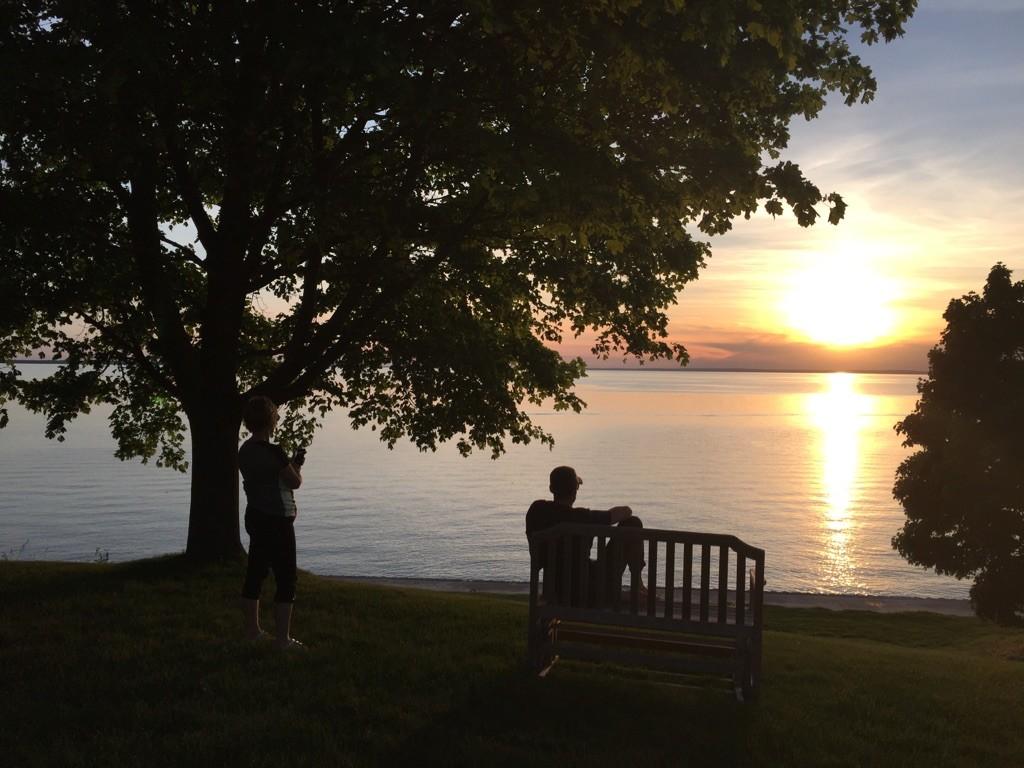 sunset on Lake Simcoe