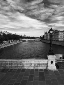 black and white Seine shot