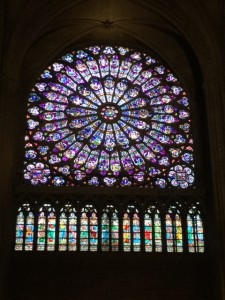 stained glass in notre dame