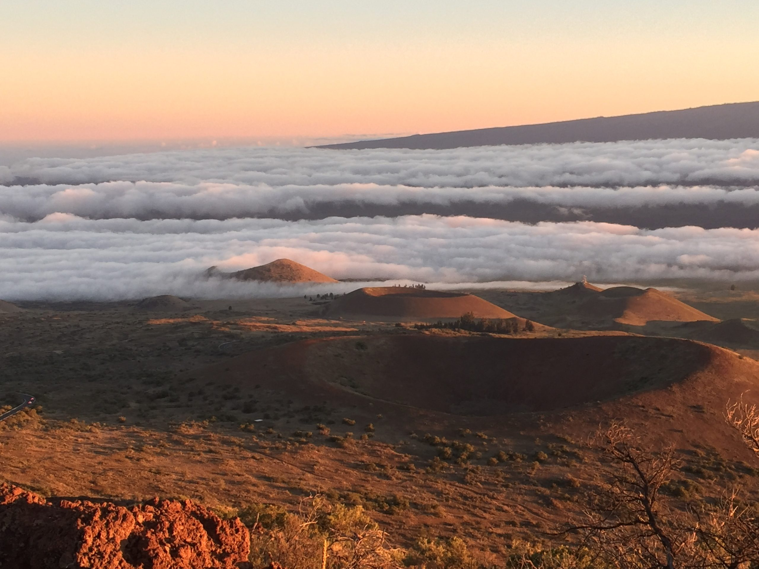 View from Mauna Kea volcano (Mauna Lao is to the right)