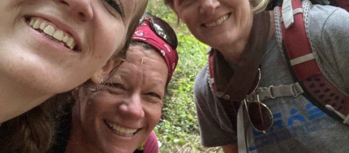 Kristin Harl & MA selfie on trail