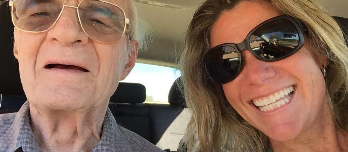 MA & Dad selfie in car #3
