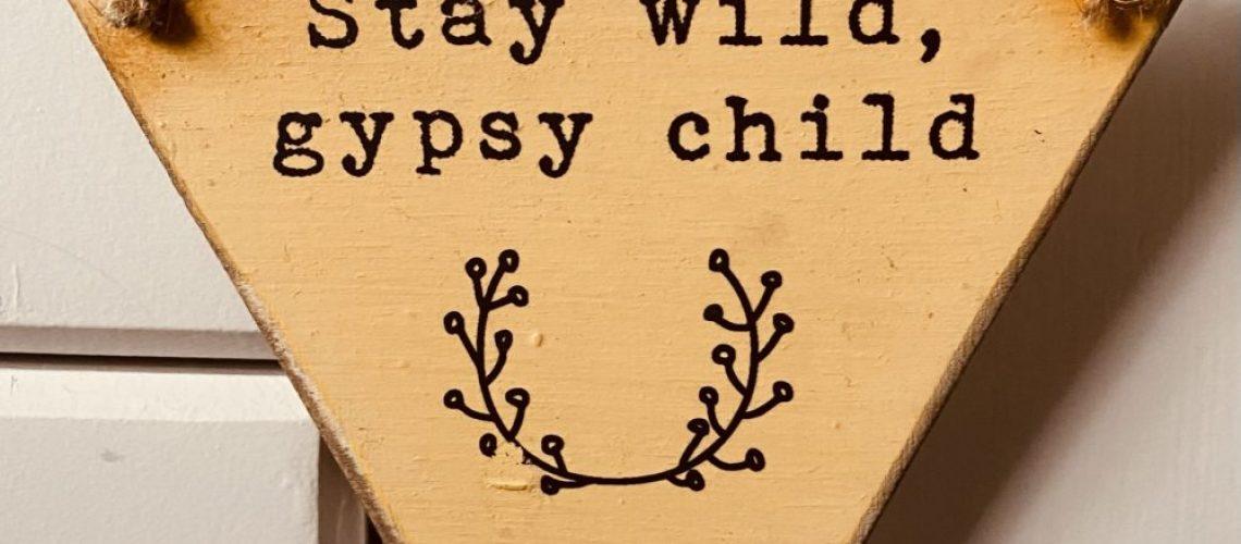 Stay wild gypsy child