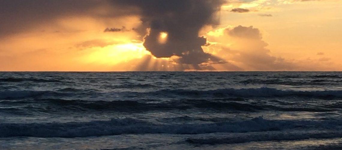 wild sunset in oceanside